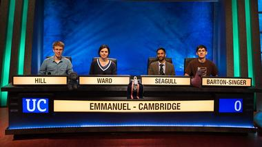 Image for the news item 'Emmanuel in the University Challenge Semi-Final!' on 21 Mar 2017
